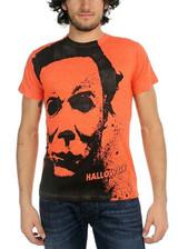 Halloween Splatter Mask Big Print Subway T-Shirt