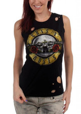 Guns N Roses Circle Guns Destroyed Women's Tank Top T-Shirt