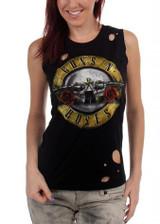 Guns N Roses Circle Guns Destroyed Women's Tank Top T-Shirt