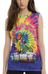 Rolling Stones Tie-Dye Dragon Tank Junior Women's T-Shirt