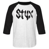Styx Styx White/Black Adult 3/4 Sleeve Raglan T-Shirt