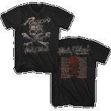 Poison Flesh & Blood World Tour Black Adult T-Shirt