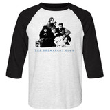 Breakfast Club Group White/Black Adult Raglan Baseball T-Shirt
