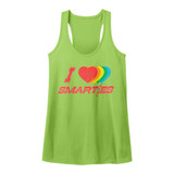 Smarties Hearts Kelly Junior Women's Racerback Tank Top