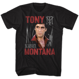 Scarface Tony Scarface Black T-Shirt