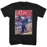 Scarface Railing Shot Black T-Shirt