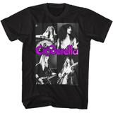 Cinderella Quarters Black Adult T-Shirt