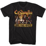 Cinderella Dudes Forever Black Adult T-Shirt