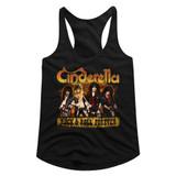 Cinderella Dudes Forever Black Junior Women's Racerback Tank Top T-Shirt