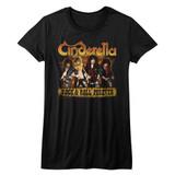 Cinderella Dudes Forever Black Junior Women's T-Shirt
