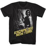Escape From New York Black And White Black Adult T-Shirt