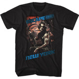 Escape From New York Snake Black Adult T-Shirt