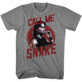 Escape From New York Call Me Snake Graphite Heather Adult T-Shirt