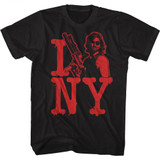Escape From New York I Snake NY Black Adult T-Shirt