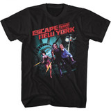 Escape From New York Running Black Adult T-Shirt