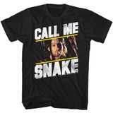 Escape From New York Call Me Snake Black Adult T-Shirt