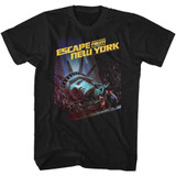 Escape From New York Run Poster Black Adult T-Shirt