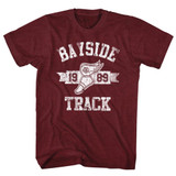 Saved by the Bell Track Vintage Maroon Heather T-Shirt