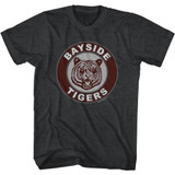 Saved by the Bell Bayside Patch Black Heather T-Shirt