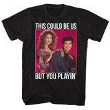 Saved by the Bell Playin Dots Black T-Shirt