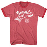 Saved by the Bell Bayside Tail Red Heather/Red Ringer T-Shirt