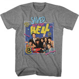 Saved by the Bell Group W/ Belding Graphite Heather T-Shirt