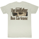 Godfather Cutting Eyes Natural Adult T-Shirt