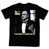 Godfather Power And Respect Black Adult T-Shirt