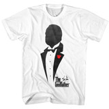 Godfather Silhouette White Adult T-Shirt