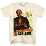 Godfather Corleone Natural Adult T-Shirt