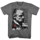 Godfather Graphite Heather Adult T-Shirt