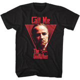 Godfather Call Me Classic Black Adult T-Shirt