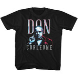Godfather Don Corleone Black Youth T-Shirt