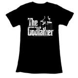 Godfather Distress Copy Black Junior Women's T-Shirt