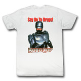 Robocop Just Say No White T-Shirt