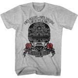 Robocop Sugar Skull Gray Heather T-Shirt