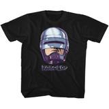 Robocop 90's Chrome Black Children's T-Shirt