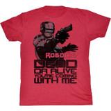 Robocop Dead Or Alive Cherry Heather T-Shirt