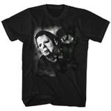 Halloween Needle Cracked Black Adult T-Shirt