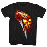 Halloween Pumpkin Knife Black Adult T-Shirt