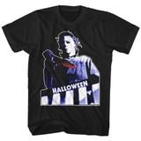 Halloween Top Floor Black Adult T-Shirt