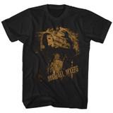 Halloween Vintage Myers Black Adult T-Shirt