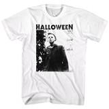 Halloween Watching Logo White Adult T-Shirt
