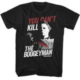 Halloween Boogeyman Black Adult T-Shirt