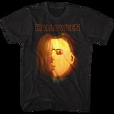 Halloween Jack O Lantern Black Adult T-Shirt