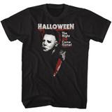 Halloween He Black Adult T-Shirt