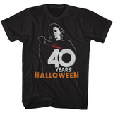 Halloween 40 Years Classic Black Adult T-Shirt