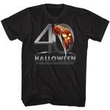 Halloween 40  Black Adult T-Shirt