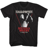 Halloween Michael Coming Home Black Adult T-Shirt