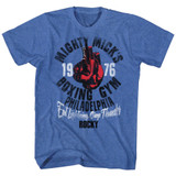 Rocky Mick's Gym Royal Heather Men's T-Shirt